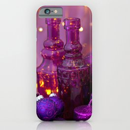 Opulent Christmas Decoration In Purple And Pink iPhone Case