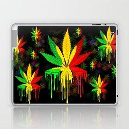 Marijuana Leaf Rasta Colors Dripping Paint Laptop & iPad Skin