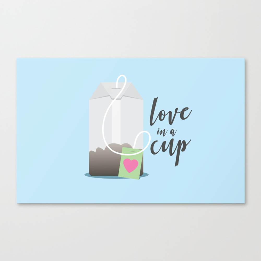 Love In A Cup Ii Canvas Print by Lnorland CNV8393652