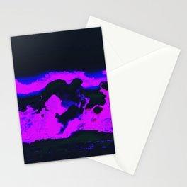 cloud w a chance of glitches Stationery Cards
