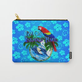 Blue Flowers Island Time Surf Carry-All Pouch