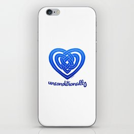 UNCONDITIONALLY in blue iPhone Skin