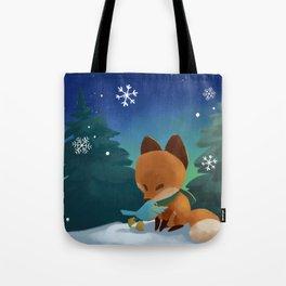 Fox & Boots - Winter Hug Tote Bag