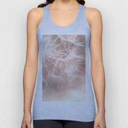 Pink Macro (2) Dandelion Flower - Floral Nature Photography Art and Accessories Unisex Tank Top