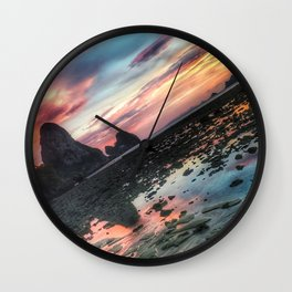 Pink Sunset in Thailand Wall Clock
