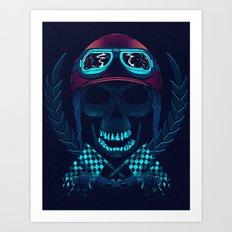 Skull racer Art Print