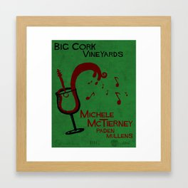 Big Cork Music Poster Framed Art Print