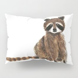 baby raccoon watercolor Pillow Sham