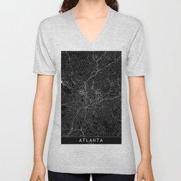 Atlanta Black Map Unisex V-Neck