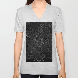 Atlanta Black Map Unisex V-Neck