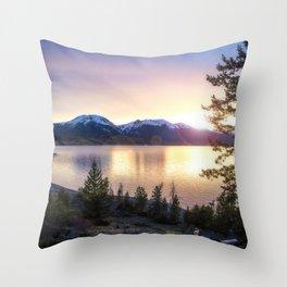 Lake Dillon, Colorado Sunset Throw Pillow