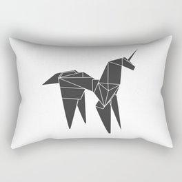Blade R. Unicorn, Origami Artwork for Wall Art, Prints, Posters, Tshirts, Women, Men, Kids Rectangular Pillow
