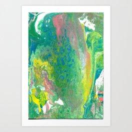 Fluid art : pastel Art Print