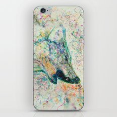 Energetic Howling Wolf iPhone & iPod Skin