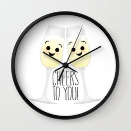 Cheers To You! Champagne Wall Clock