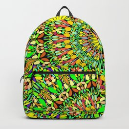 Floral Sun Garden Mandala Backpack