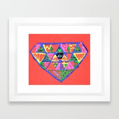 đeyemond vi§ion Framed Art Print