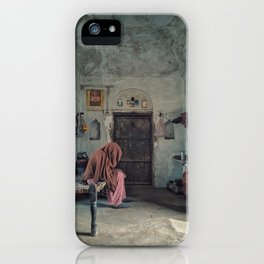 person-wearing-hijab-scarf iPhone Case