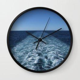 SEA BLUE WAKE AND HORIZON - Pacific Ocean Wall Clock