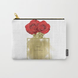 Red Roses & Fashion Perfume Bottle Carry-All Pouch