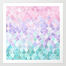 Mermaid Pastel Iridescent Art Print