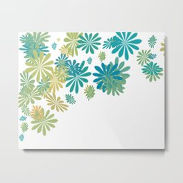 White floral splash Metal Print
