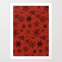 Snow Flakes 09 Art Print