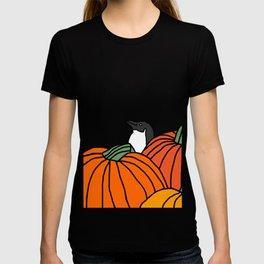 Little Blue Penguin in the Pumpkin Patch T-shirt