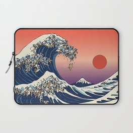 The Great Wave Off Pug Laptop Sleeve