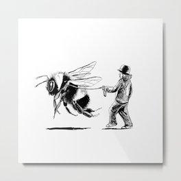 Bee Adventurous Metal Print