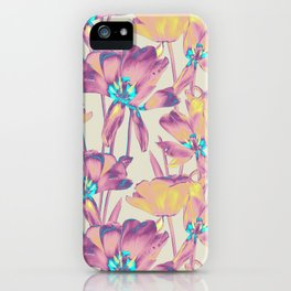 Tulips in Cotton Candy iPhone Case