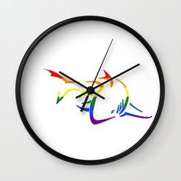 Gay Pride Shark Wall Clock