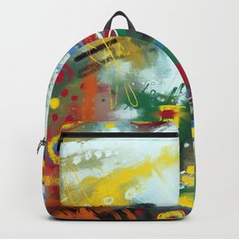 Spring glade and stars Backpack