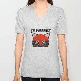 A pussy cat Unisex V-Neck