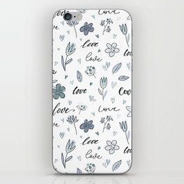 Floral Love Letter Hand Drawn iPhone Skin