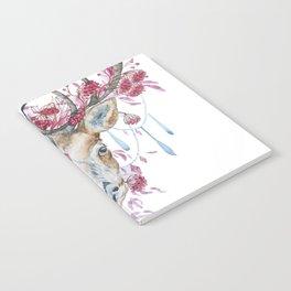 Watercolor Reindeer Notebook