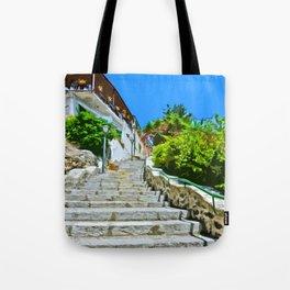 Steps of Capri Tote Bag