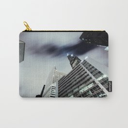 Cityscape I - Contemporary Skyscrapers Minimal Modern Studio Office Art Print Chicago Carry-All Pouch