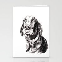 charlie Stationery Cards featuring Charlie by Hana Robinson