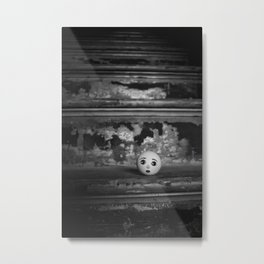Doll Head Abandoned in Stairwell Metal Print
