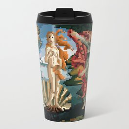 Pixel Birth of Venus Travel Mug