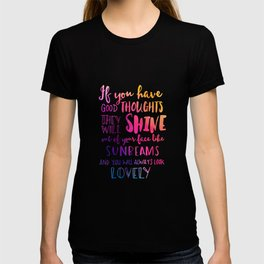 Good thoughts - colorful lettering T-shirt