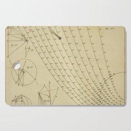 Jérôme Lalande's Astronomie (1771) - Geometric Calculations 2 Cutting Board