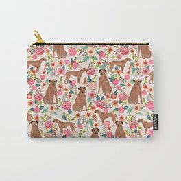 Rhodesian Ridgeback floral dog breed gifts pure breed must have dog pattern Carry-All Pouch