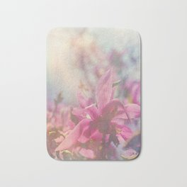 Her Heart Bloomed with Love in the Spring Bath Mat