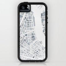 Map Manhattan Gray NYC Adventure Case iPhone (5, 5s)
