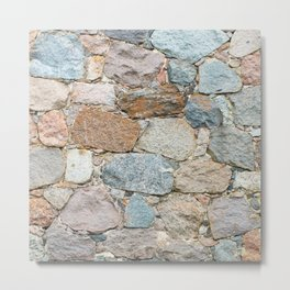 old wall from field stones Metal Print
