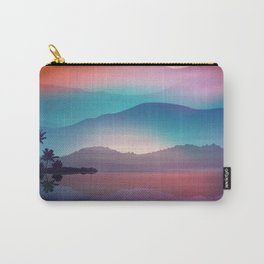 Sea and Palm Trees at Night Carry-All Pouch