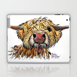 Scottish Highland Cow ' POPEYE 2 ' by Shirley MacArthur Laptop & iPad Skin