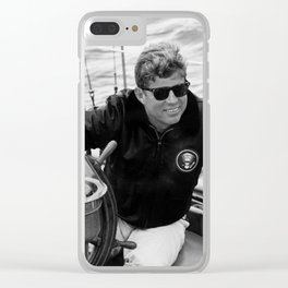 President John Kennedy Sailing Clear iPhone Case